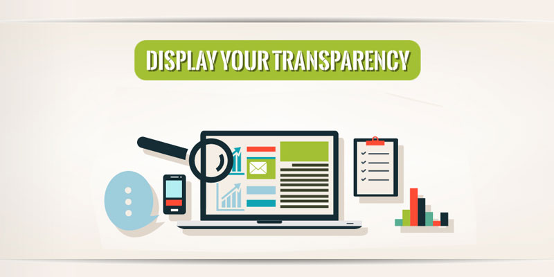 display your transparency
